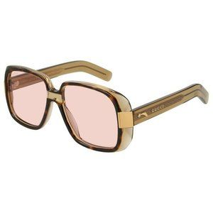 New Gucci Transparent Havana Sunglasses